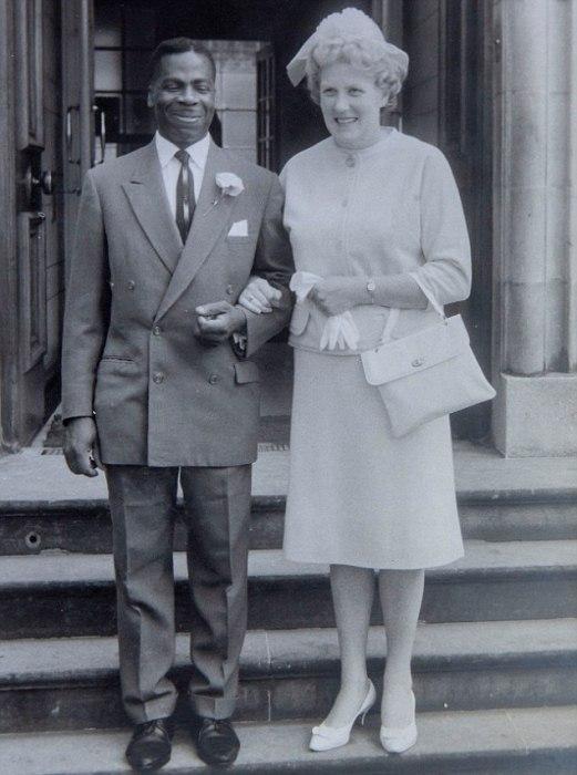 Свадебная фотография Дориан и Эндрю. Август 1961 года.
