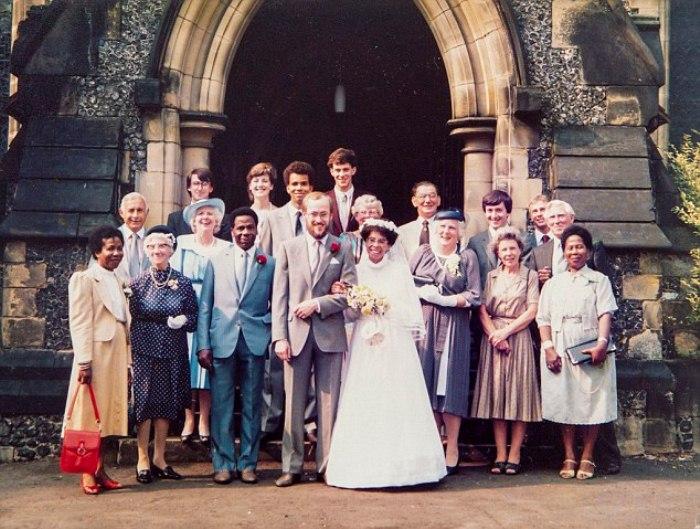 Свадьба Пенни. Фотография возле церкви, 1984 г.
