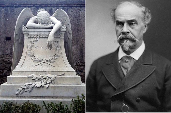 Скульптура *Ангел скорби* и портрет скульптора Уильям Ветмор Стори. Фото: ru.wikipedia.org