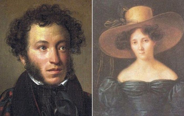 Александр Пушкин и Анна Оленина.