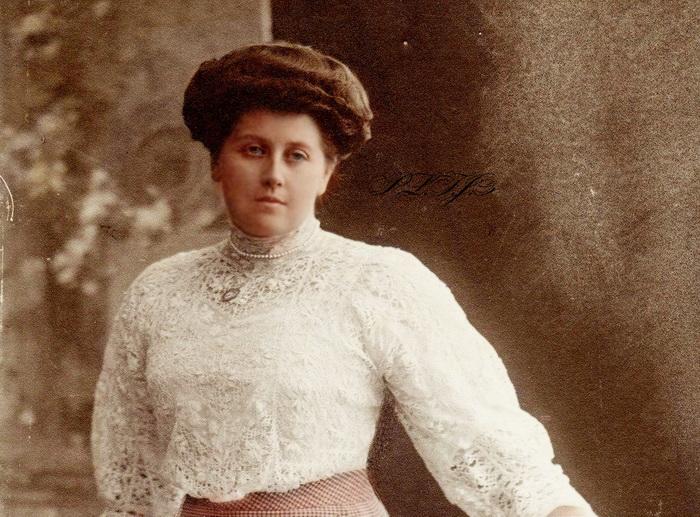 Портрет Анны Вырубовой, фрейлины императрицы Александры Федоровны