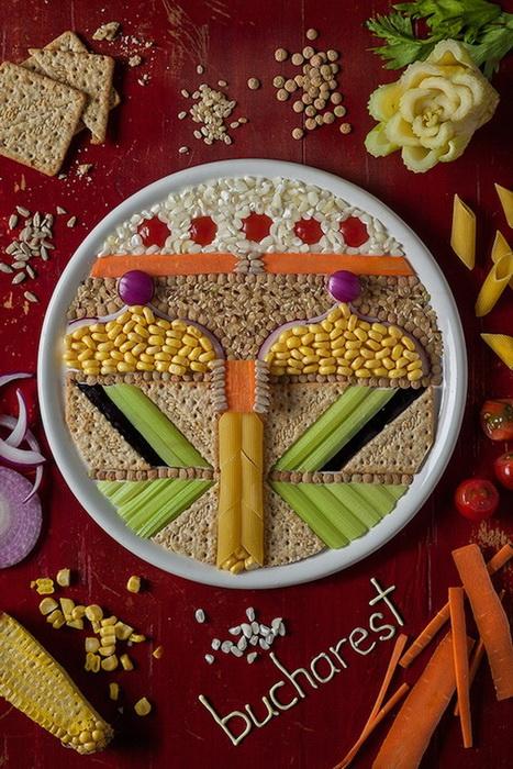 Рисунки из еды от Анны Кевилл Джойс (Anna Keville Joyce)
