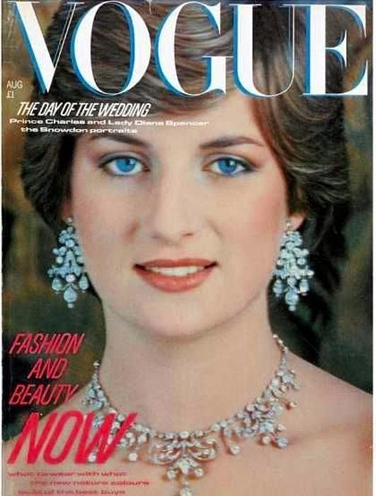 Принцесса Диана на обложке журнала Vogue.