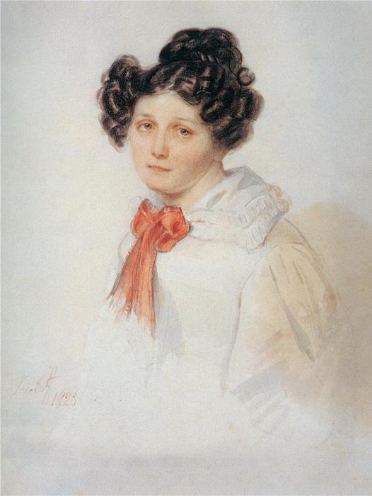 Прасковья Анненкова. Автор портрета - Петр Соколов