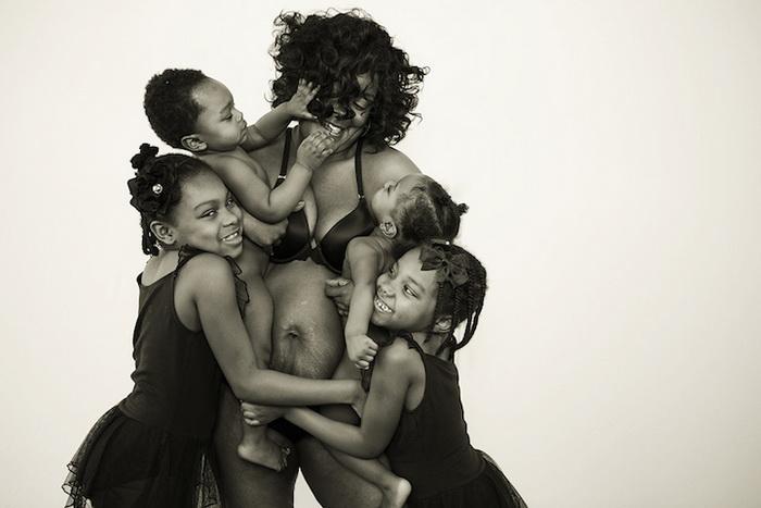 Шанель Льюис и ее 4 ребенка (от 15 месяцев до 7 лет)