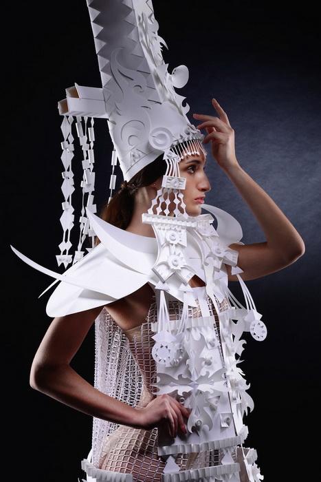 Оригинальные свадебные платья из бумаги