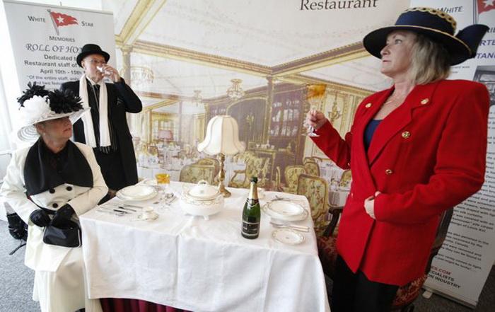 Меню в ресторане на борту Balmoral в точности совпадает с тем, что было предложено пассажирам *Титаника*