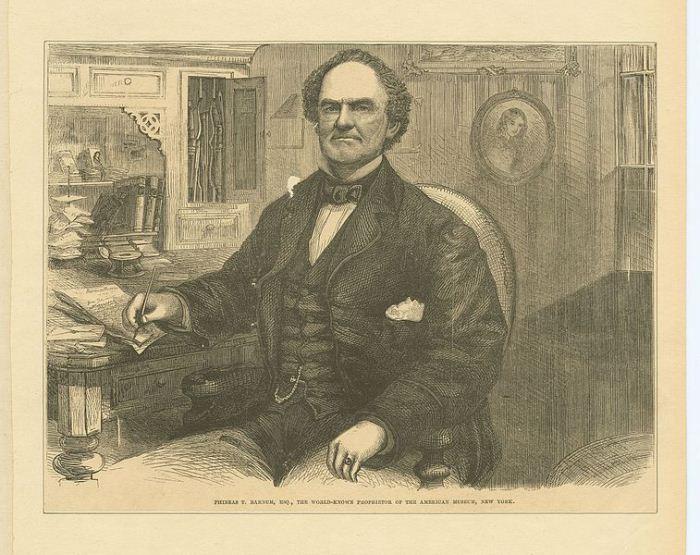 Портерт основателя Американского музея Финеаса Тейлора Барнума