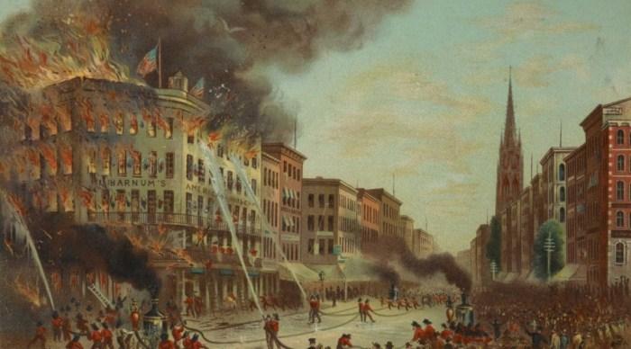 Пожар в музее Барнума