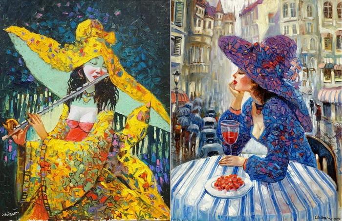 Очаровательные женские портреты кисти Байрама Саламова