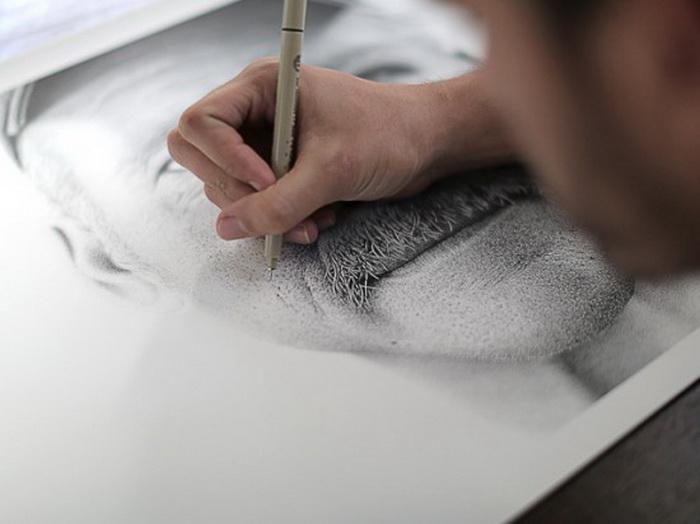 *Точечный* портрет Бенджамина Кайла, нарисованный Мигелем Эндарой