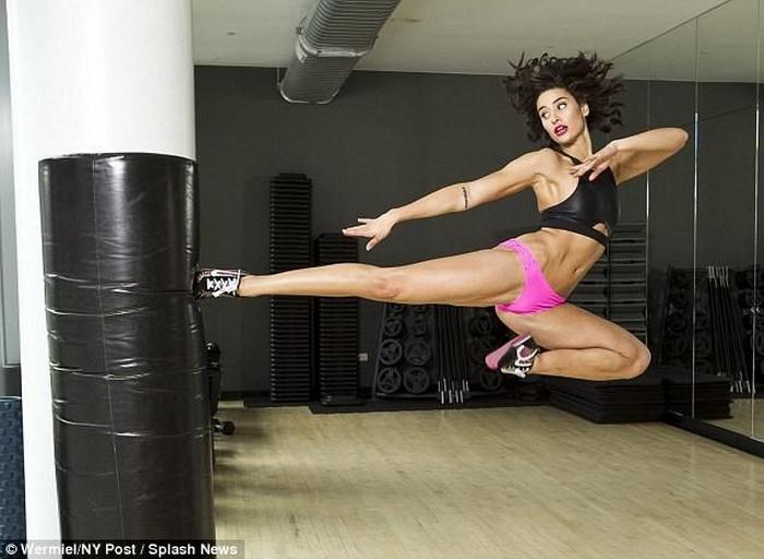 Бьянка Бри в отличной физической форме