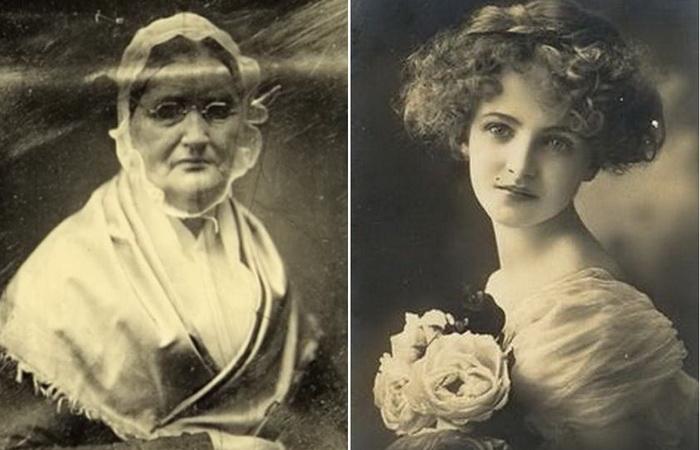 Портреты Бланш Монье и ее матери.
