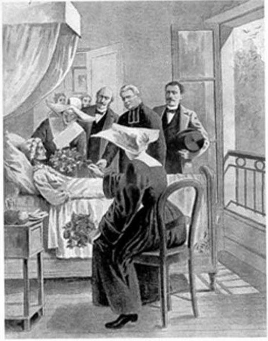 Консилиум врачей у постели Бланш Монье. Фото: tori.ng