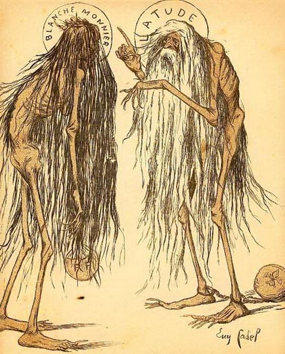 Саркастическая карикатура о спасении Бланш Монье. Фото: mirtayn.ru