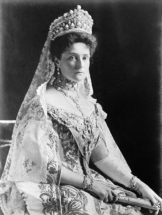 Портрет Александры Федоровны, жена Николая II.
