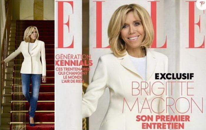 Номер Elle с фотографией Брижит Макрон на обложке разошелся огромным тиражом.