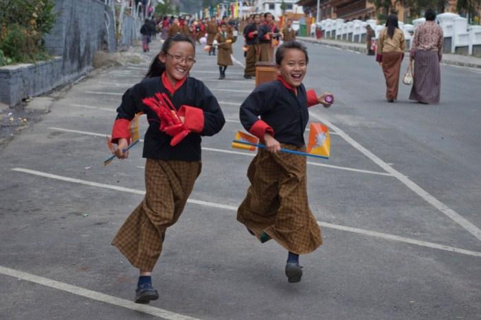 Бутанские школьницы