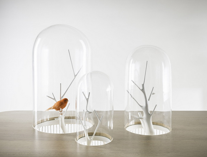 Archibird: клетка для птиц и стол от дизайнера Gregroire de Laforrest