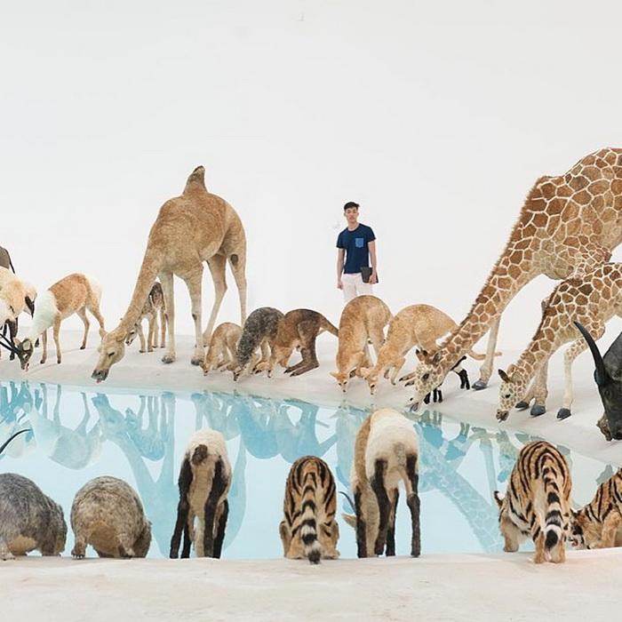 99 диких животных в инсталляции Цая Го-цяня (Cai Guo-Qiang)