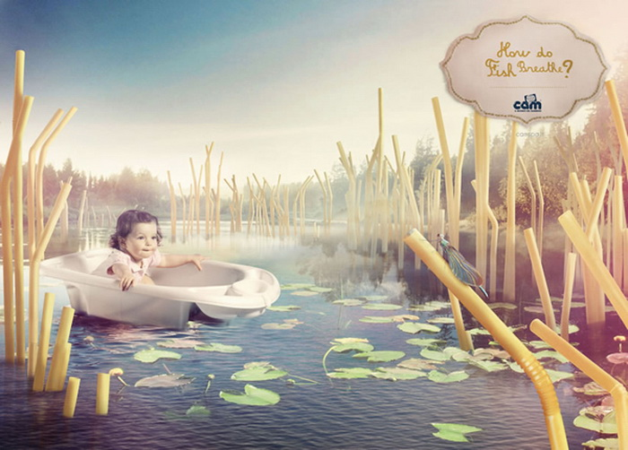 Реклама для любознательных деток: Как дышат рыбы?