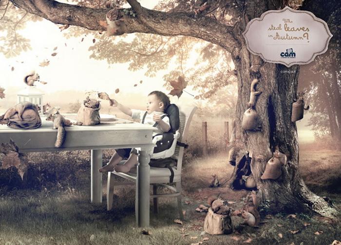 Реклама для любознательных деток: Кто крадет листья осенью?