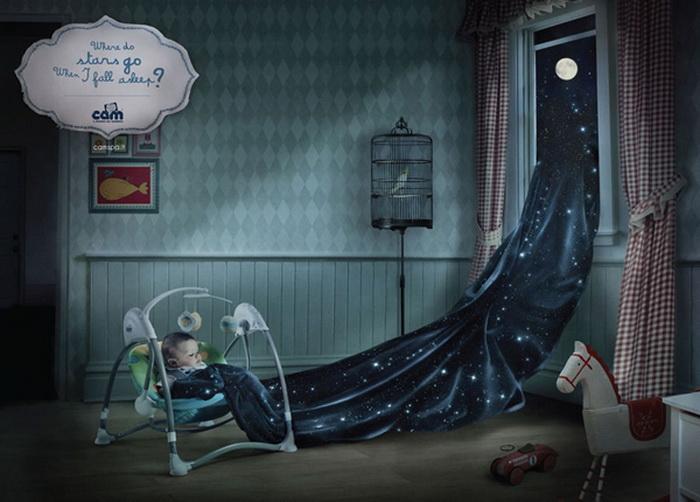 Реклама для любознательных деток: Куда уходят звезды, когда я засыпаю?