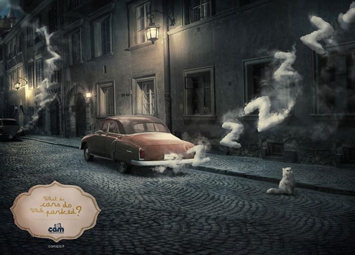 Реклама для любознательных деток: Что делают припаркованные машины?