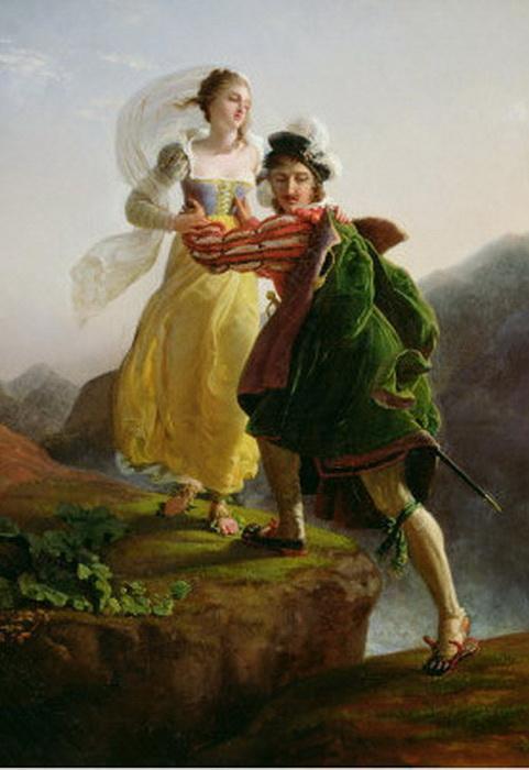 Бьянка Капелло бежит с возлюбленным
