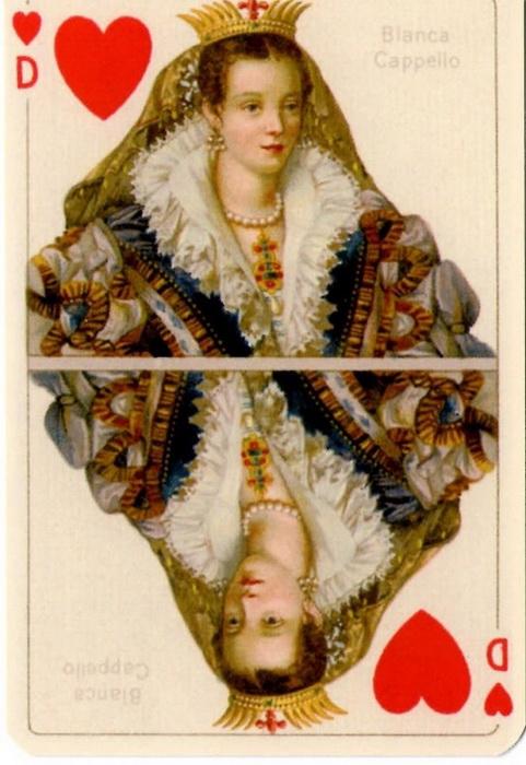 Бьянка Капелло, эрцгерцогиня Тосканская. Сувенирная колода карт