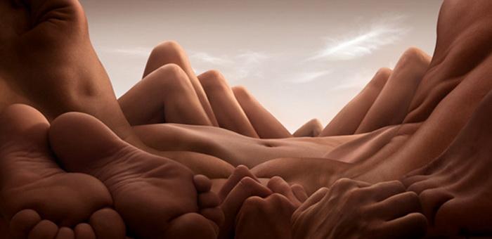 Удивительные пейзажи из обнаженных тел