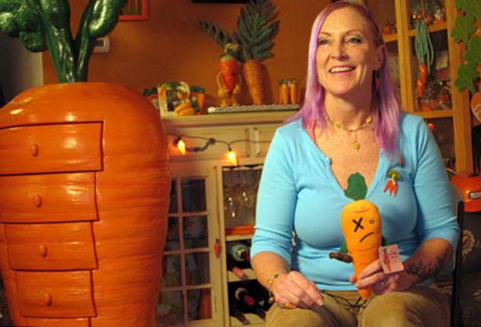 Комод в виде моркови за 4 000 долларов в доме Зизи Хауэлл