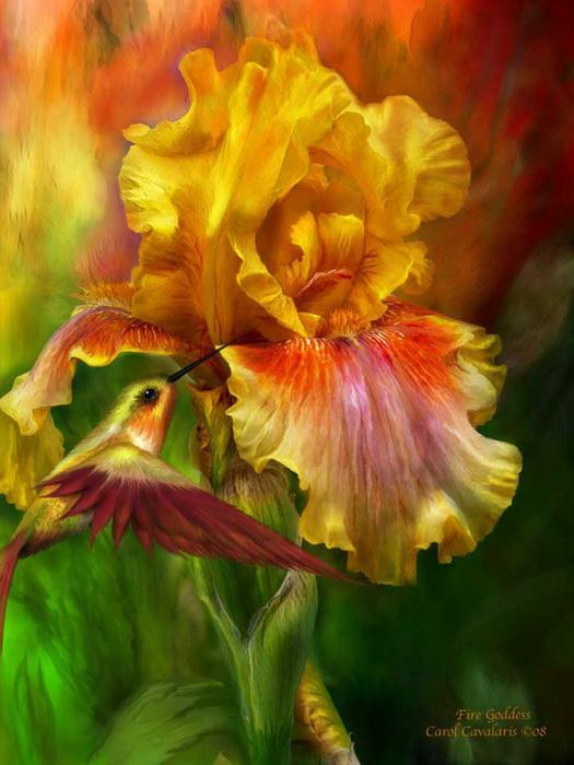 Цветы, нарисованные в Photoshop