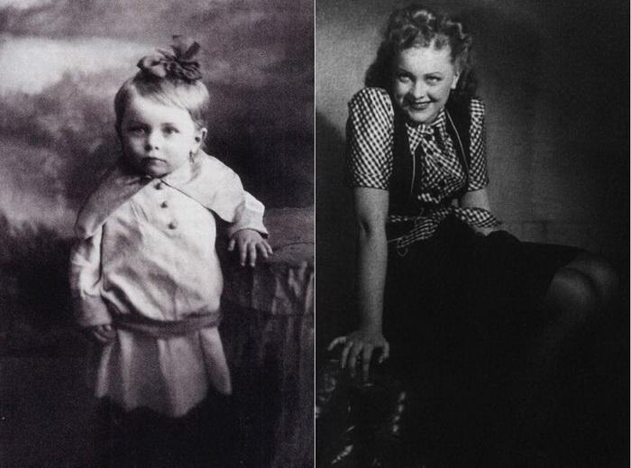 Людмила Целиковская: в детстве и в молодости