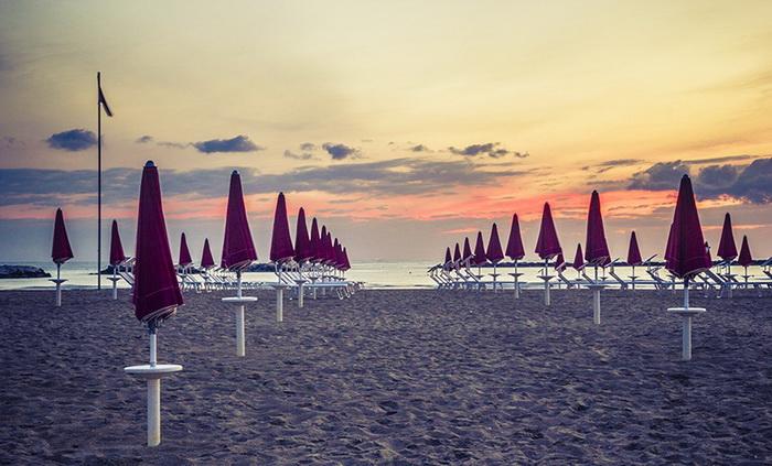 Бескрайние песчаные пляжи Чезенатико