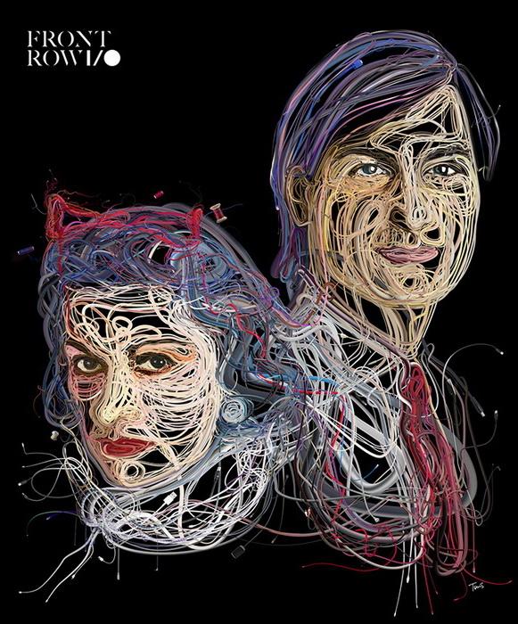 Иллюстрации из проводов от Хариса Цевиса (Charis Tsevis)