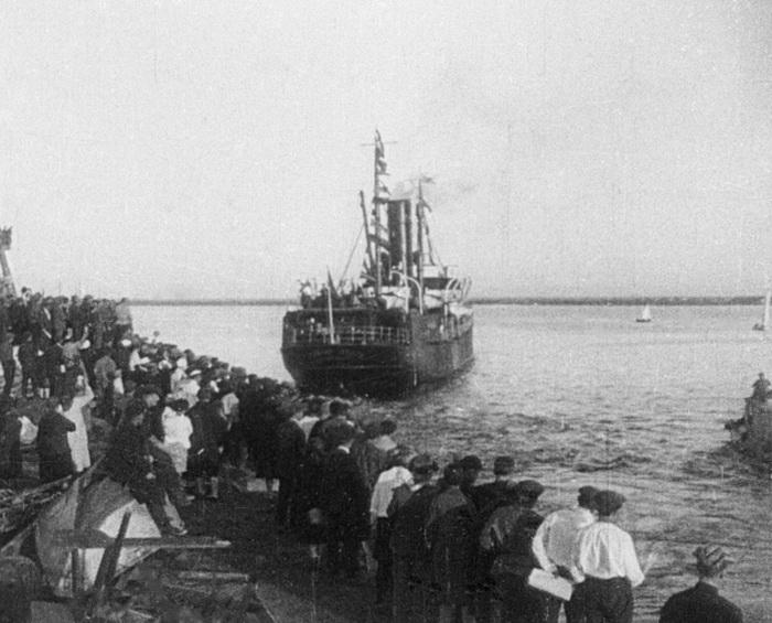 Пароход «Челюскин» отбывает из архангельского порта, 1933 год   Фото: ria.ru