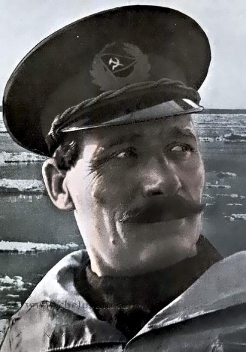 Портрет Владимира Воронина, капитана корабля   Фото: cheluskin.ru