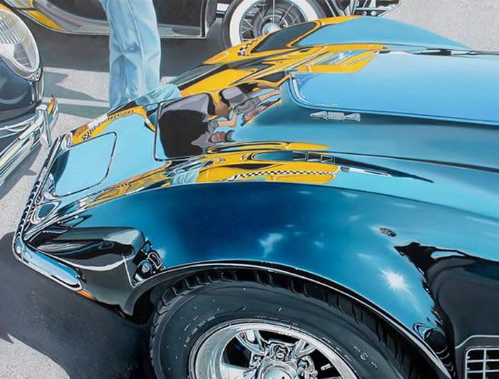 Гиперреалистические рисунки ретро-автомобилей от Шерил Келли