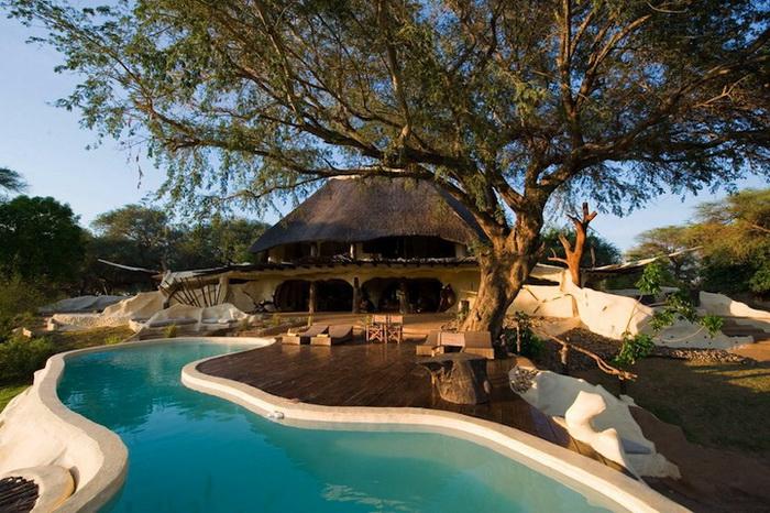 Роскошный особняк Chongwe River House в Африке