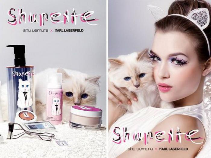 Кошка Карла Лагерфельда в рекламе японской косметики
