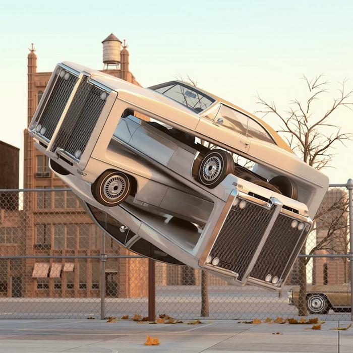 Авто-аэробика: цифровые скульптуры от Криса Лабруя (Chris LaBrooy)