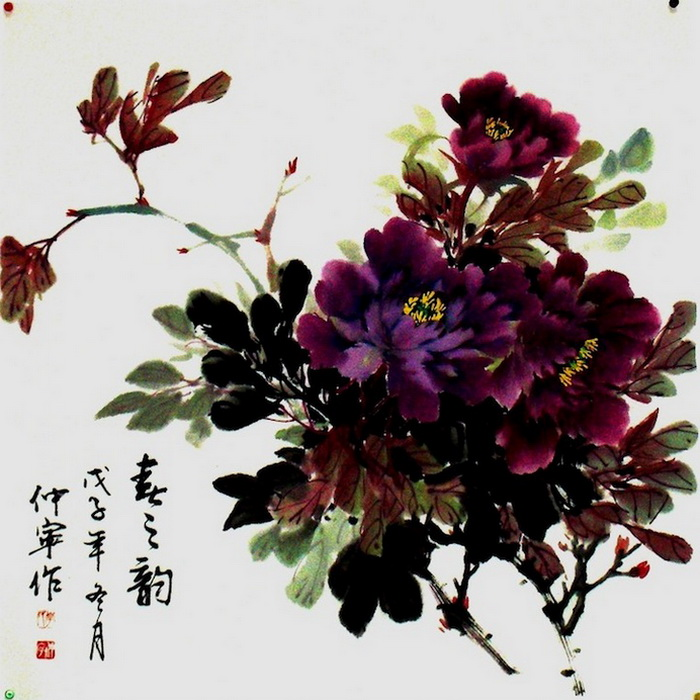 Традиционная китайская живопись: работы Chuan-Hong Li