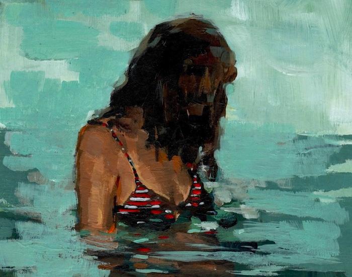 Одинокие девушки на картинах Clare Elsaesser