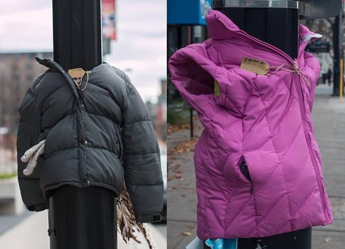 Куртки для бездомных: благотворительный проект в канадском городе