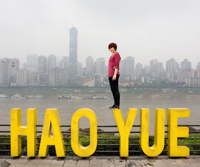 Каучсерфинг: Zhang Yue, г. Чунцин, Китай. Фотопроект от Габриэле Глимберти (Gabriele Galimberti)