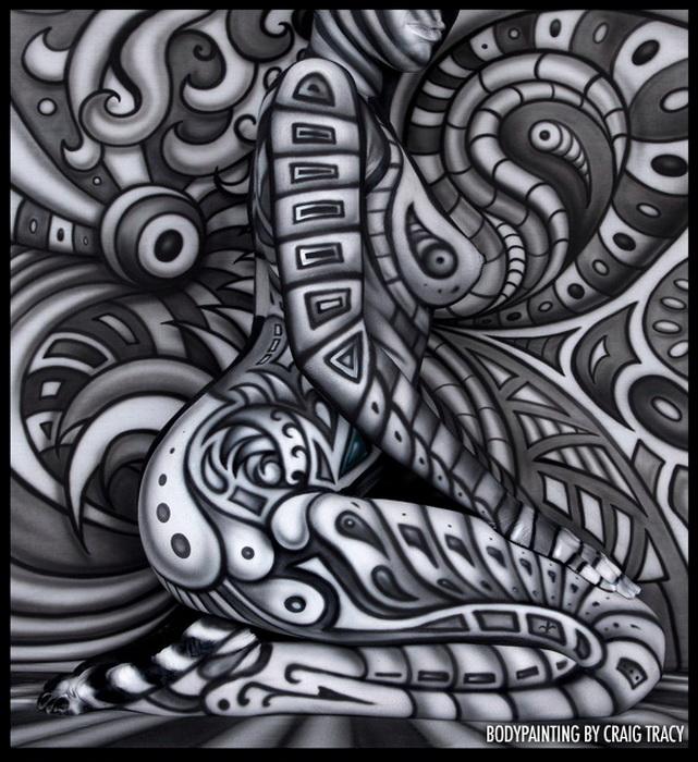 Необычный боди-арт от американского художника Крейга Трейси