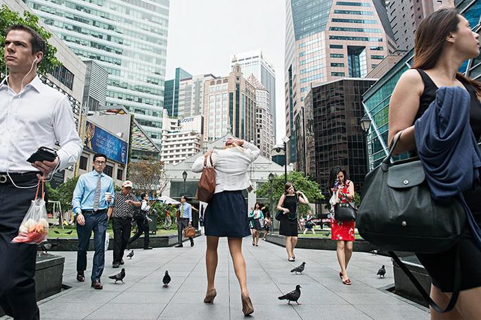 Фотографии Дэнни Сантоса сделаны на улицах Сингапура