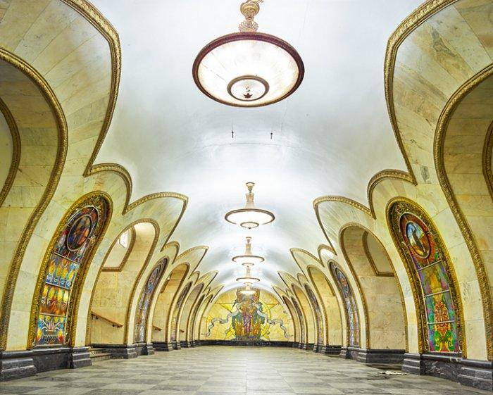 Станция метро Новослободская, Москва