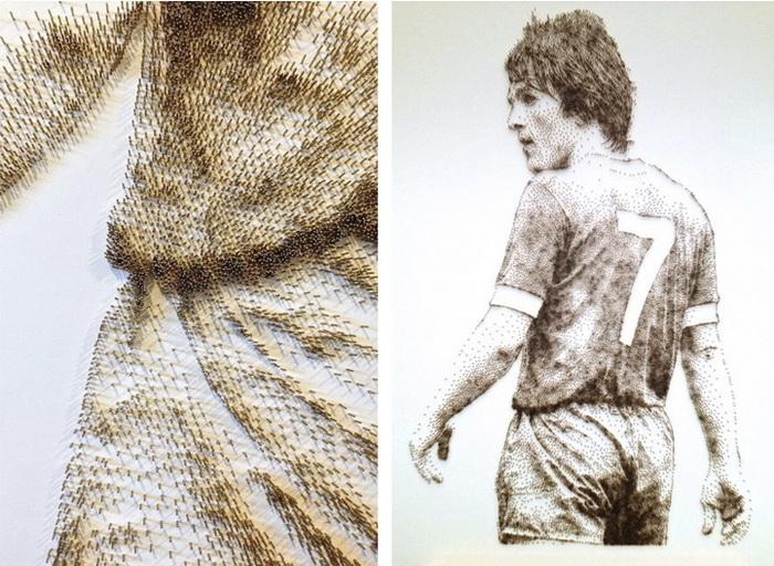 Рисунки из гвоздей от Дэвида Фостера (David Foster)